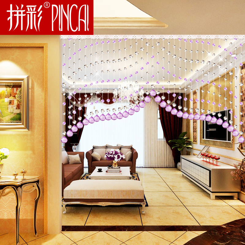 Curtain Bead Crystal Partition Living Room Porch Bedroom Screen Decoration Crown Chain