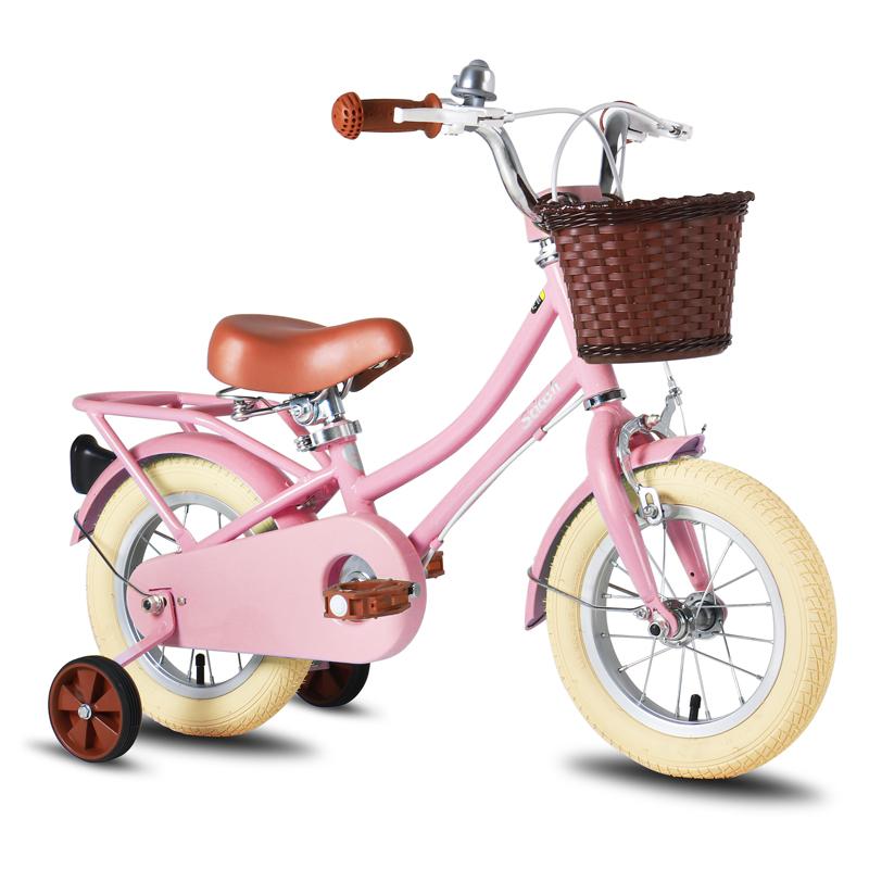 祺娃娃儿童自行车男孩女孩2-3-6岁宝宝14\\\/16寸脚踏车幼童单车梦奇