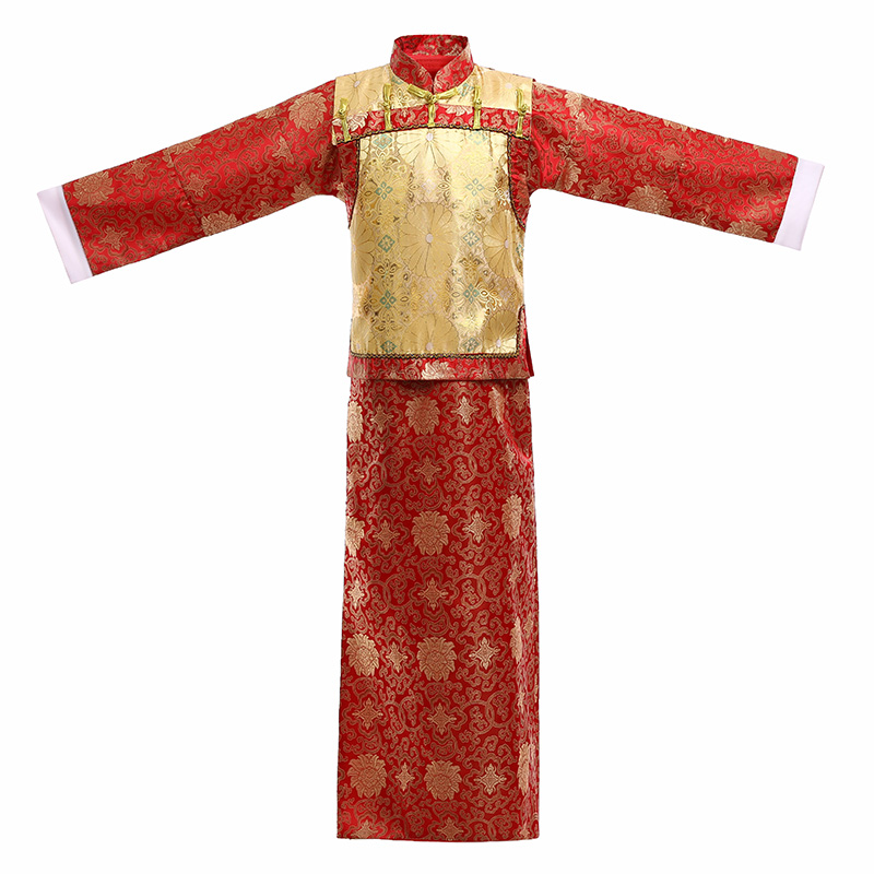 18cc85379 USD 31.89] The Qing dynasty baiye elder brother emcee costume adult ...
