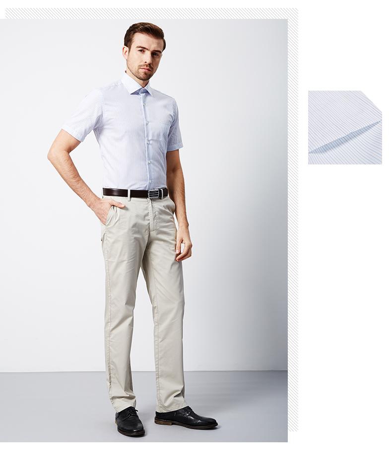 Satchi Sha Chi của người đàn ông ăn mặc áo sơ mi 2018 mùa hè mới của người đàn ông kinh doanh áo sơ mi mall với cùng một đoạn áo sơ mi nam cổ trụ