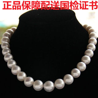 Genuine fake one for ten natural freshwater pearl necklace 10-11mm strong light for mother-in-law mother-in-law mother's Day gift