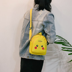 Girls small bag small bag female wild cute Pikachu mini fashion simple student cartoon Messenger bag tide