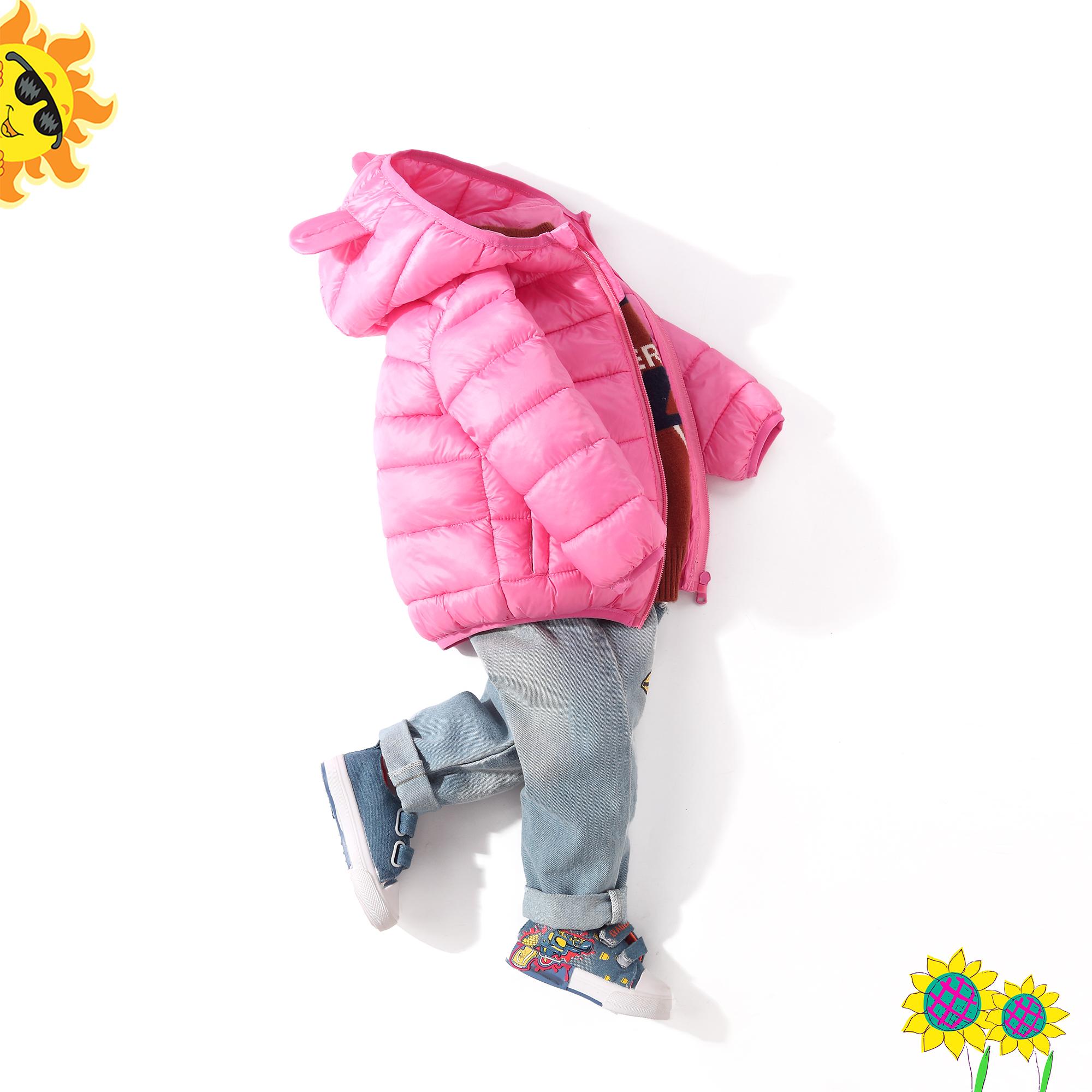 HM&AE儿童羽绒棉服轻薄款男童棉衣棉袄短款中小童外套女童宝宝潮