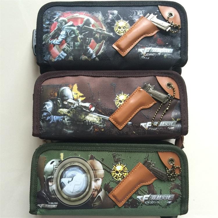 得力66630笔袋大容量多用途笔袋文具盒男孩男学生铅笔收纳袋