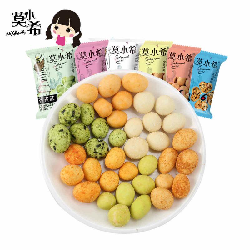 莫小希鱼皮豆花生果仁番茄酱汁牛肉海苔芝士鱼皮豆小吃休闲零食