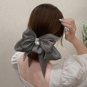 新款大蝴蝶结头饰高端复古发夹夏季网红发卡