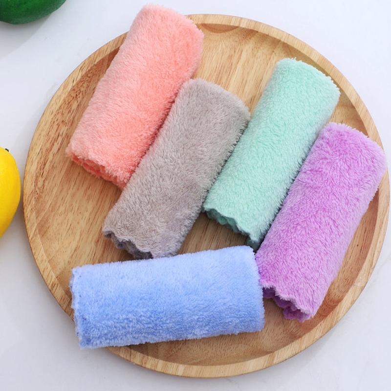 30条装儿童珊瑚绒毛巾口水巾