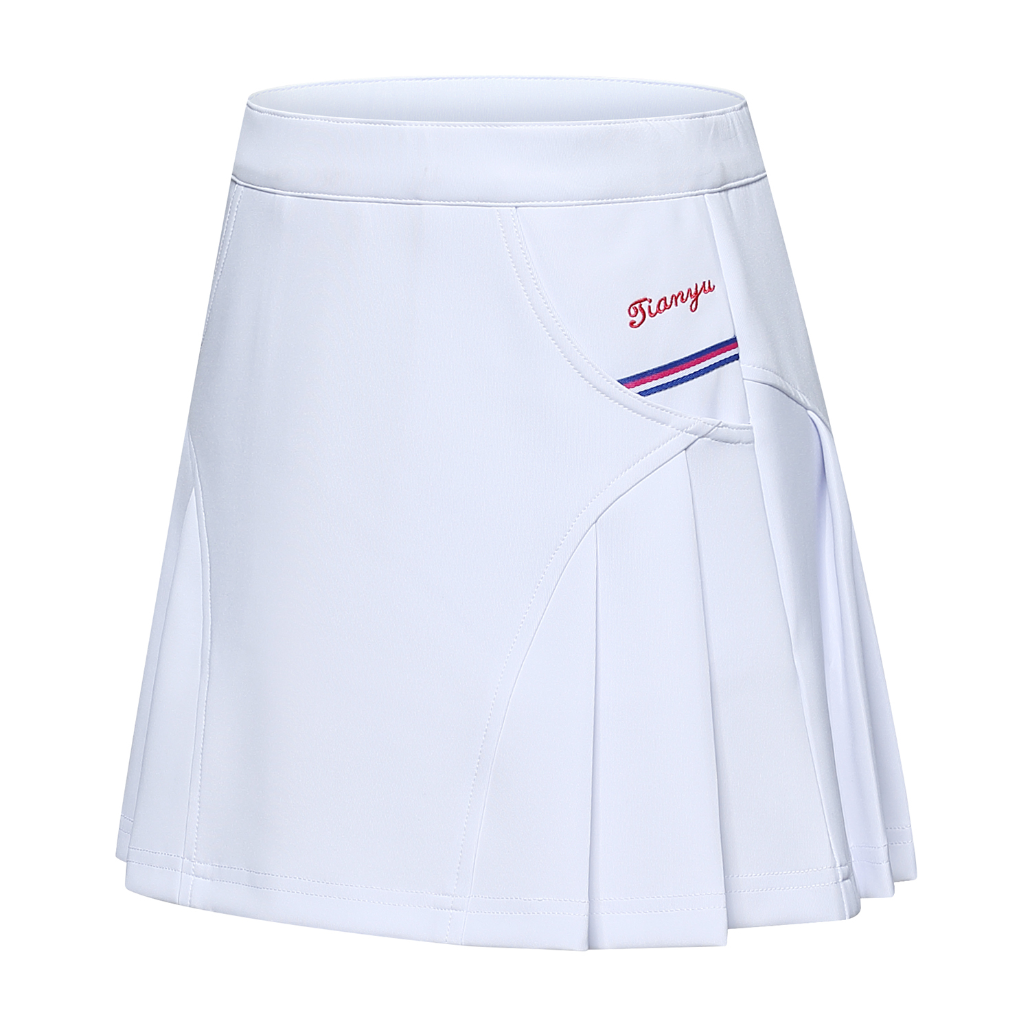 WHITE SHORT SKIRT WITH ANTI-LIGHT LINING GIRLS