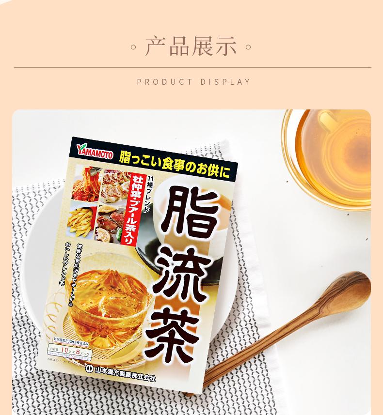 日本 汉方脂流茶 去油解腻减肥 8袋*3盒 图10