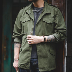 Madden Workwear American Retro World War II Army Green M65 Field Jacket Classic Trench Army Jacket Men