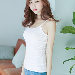 2019 new Korean version of white sleeveless camisole bottoming inside the ride Spring and Autumn Slim short paragraph t-shirt female summer sexy