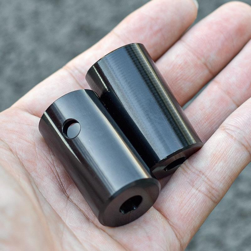 极限滑板车底板配件尾炮阳极亮黑详细照片