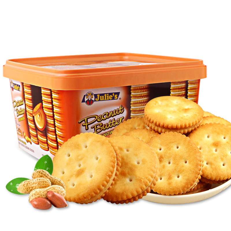 花生醬進口夾心餅幹540g/盒