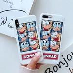 苹果手机壳唐老鸭创意卡通防摔软壳硅胶套