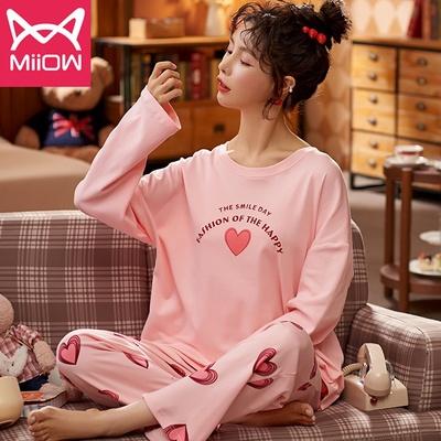 【猫人】春秋款可爱纯棉长袖睡衣套装