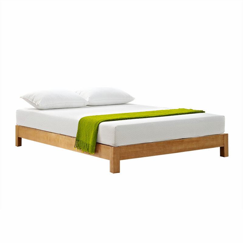 No bed bed Japanese tatami bed economical solid wood double bed 1.5 ...