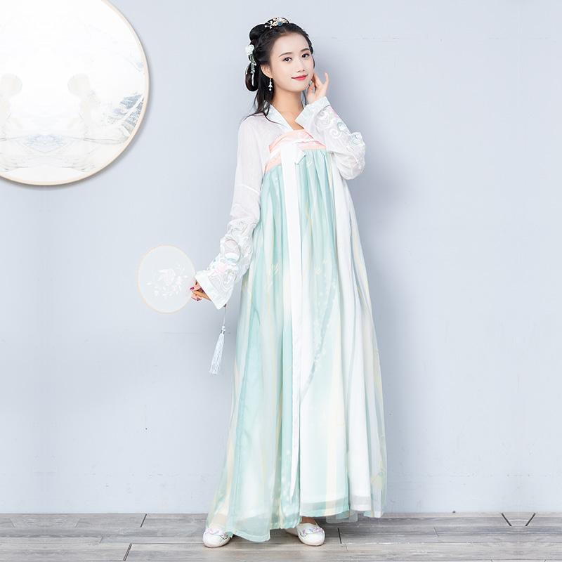 秋装新款传统汉服汉元素日常刺绣对襟齐胸闺蜜装姐妹装可拆
