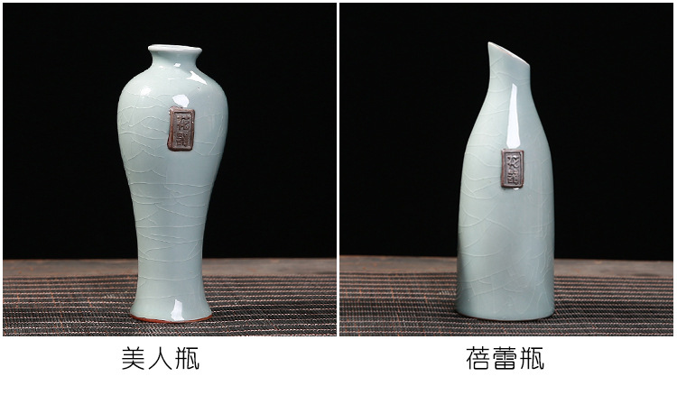 Creative vintage contracted elder brother up floret bottle home furnishing articles can be dried flowers hydroponics Chinese zen ceramic vases, the sitting room