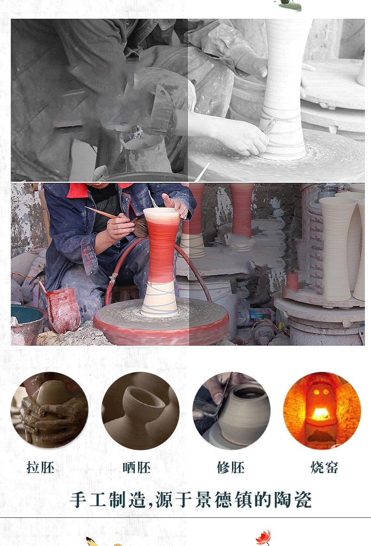 Hand - made ceramic vase three - piece jingdezhen ceramic vases, Chinese style furnishing articles flower porcelain ceramic arts and crafts