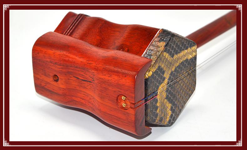 二胡 紅花梨木機械軸二胡樂器入門學習二胡樂器配件送指法貼免運 島上人間