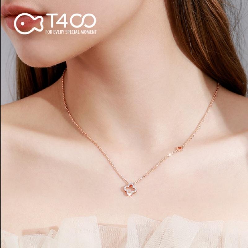 【T400】四叶草项链女纯银