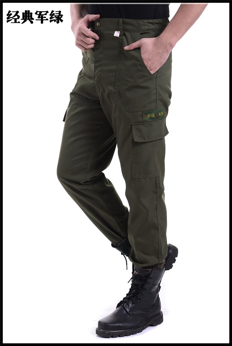 Thêm chất béo dụng cụ quần bảo hiểm lao động ngụy trang quần của nam giới trang web yếm sinh viên đào tạo quân sự lỏng dày đa túi quần
