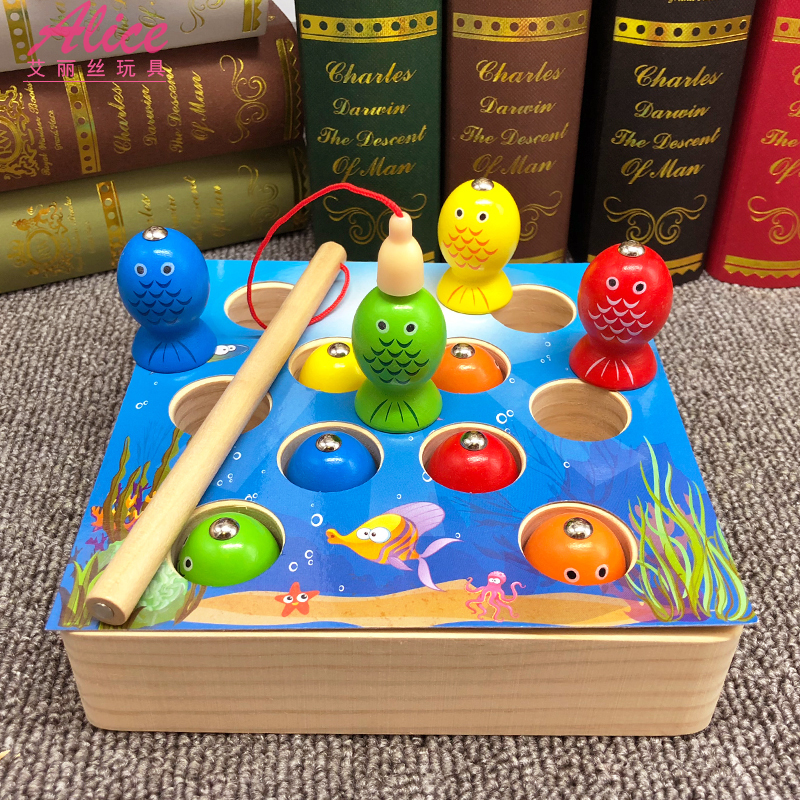 usd 15 55 baby boy 3d solid magnetic kitten fishing game 1 2 3 year