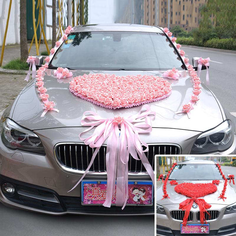 Wedding car decoration set car flower floats floats wedding