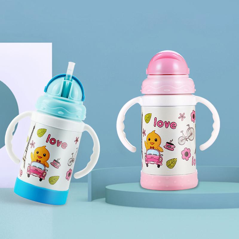 儿童保温杯宝宝吸管杯婴儿喝水杯学饮杯带吸管防摔幼儿园水壶外出