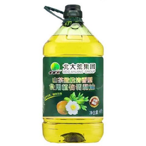 北大荒山茶油橄榄油非转基因初级压榨食用油植物调和油4L大桶包邮