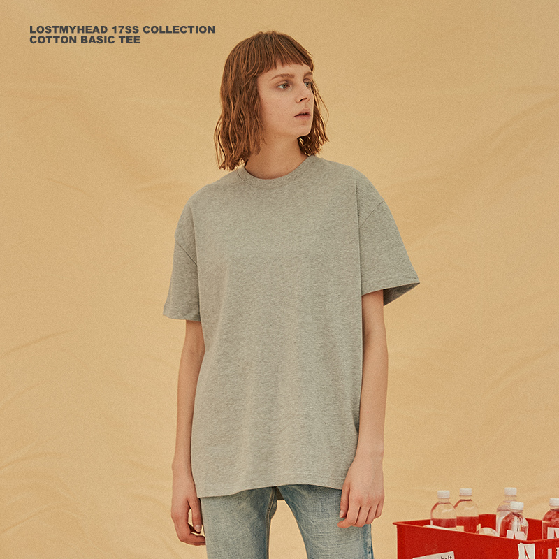 28f93bc4ab9 LISA country Tide LOSTMYHEAD solid color short sleeve couple half sleeve  hip hop T-shirt · Zoom · lightbox moreview · lightbox moreview ...