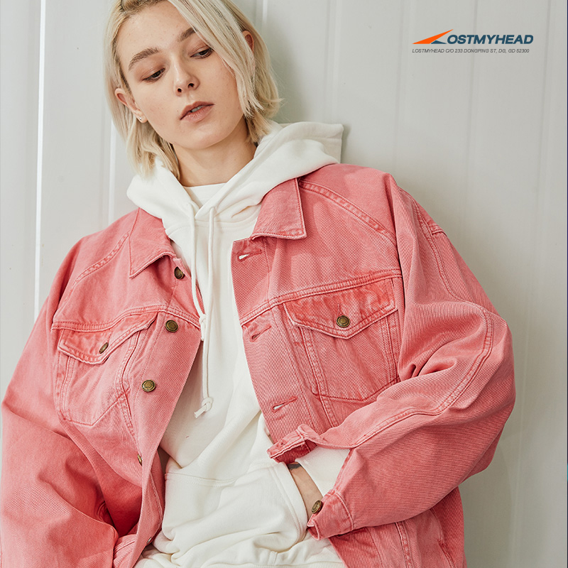 0cb104c56ba ... lightbox moreview · lightbox moreview. PrevNext. LISA country Tide  LOSTMYHEAD pink denim jacket male loose ...