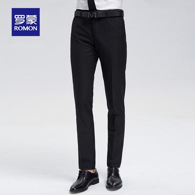 Luomen quần nam mùa hè phần mỏng quý ông ăn mặc kinh doanh chuyên nghiệp mặc làm việc để làm việc phù hợp với quần thẳng Slim Suit phù hợp