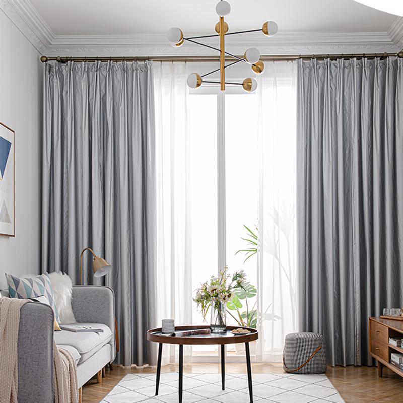全遮光窗簾臥室遮陽布料簡易免打孔安裝遮陽布擋光防曬隔熱掛鉤式