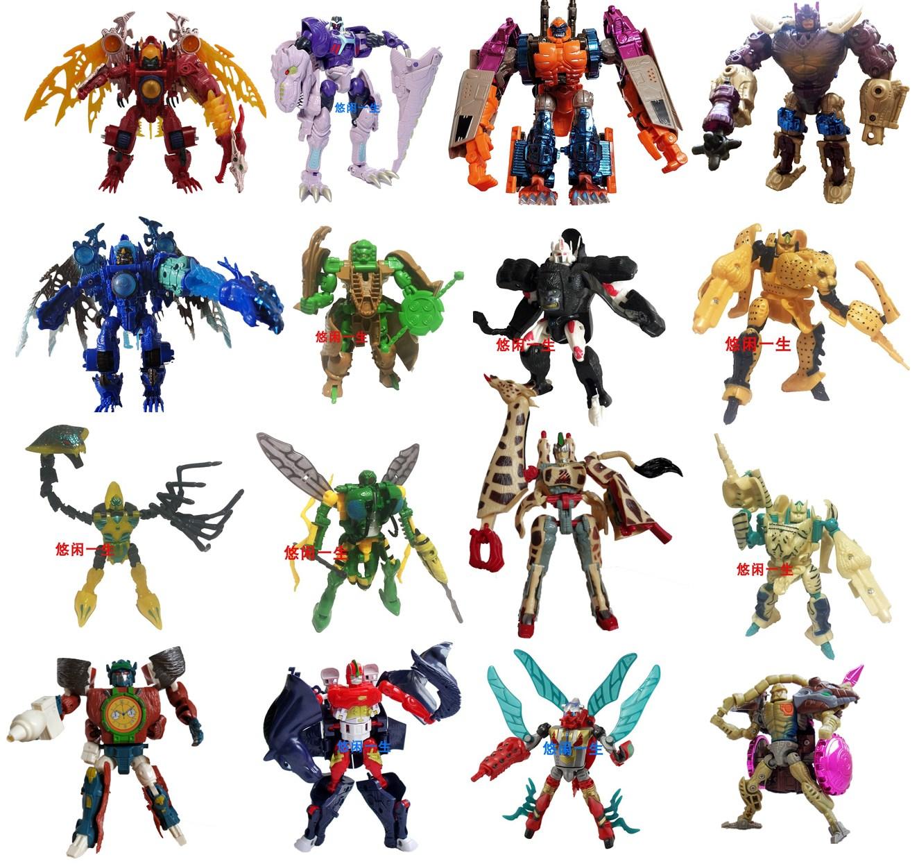 。猛兽玩具金刚金属侠猩猩bw勇士变体霸王龙超能祖国变形版