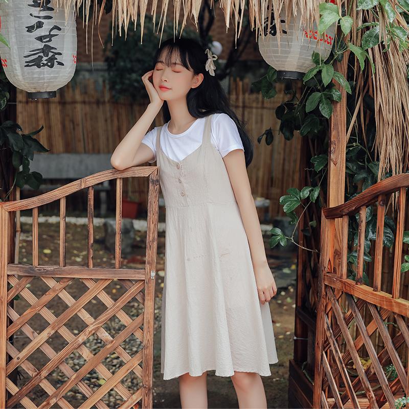售价不低于69 日系绑带连衣裙 两件套