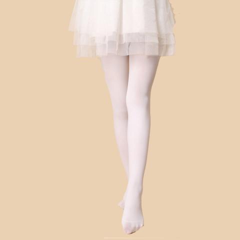 【2条装】春夏薄款舞蹈袜女童打底裤纯棉儿童连裤袜白色丝袜宝宝_领取5元淘宝优惠券