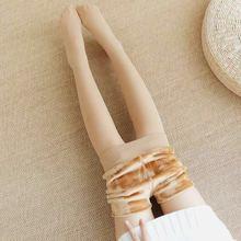 秋季光腿肉色打底裤加绒加厚丝袜