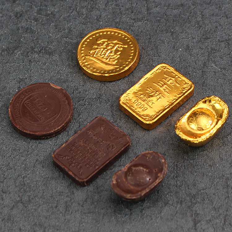 Gold Coin Chocolate Lucky Bag Cake Decoration Chocolate Gold