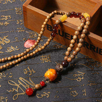 National style necklace long paragraph wild female simple fashion pendant retro clothes pendant accessories Bodhi root decorations