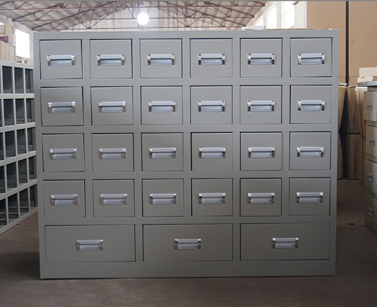 Chinese Medicine Cabinet 50/60 Bucket Thick Steel Chinese Medicine Cabinet  Stainless Steel Chinese And Western Medicine Cabinet Adjustment Table  Factory ...