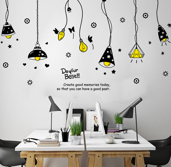 usd 8.59] creative personality pendant wall stickers restaurant wall