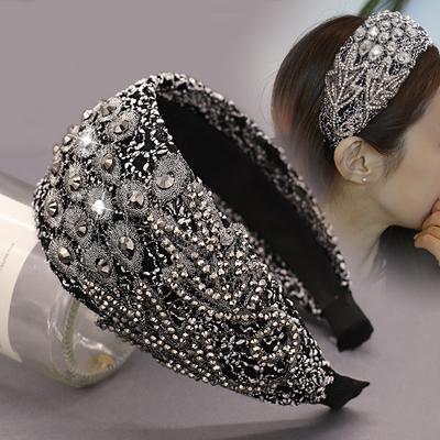 压发发卡发箍女韩国简约小清新布艺头发饰成人发窟头箍女宽边头饰