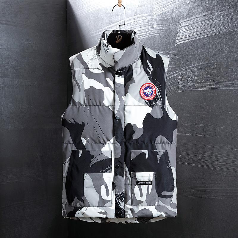 Paul Baqi hoàn toàn mới cho nam ngụy trang xuống áo vest cotton nam mùa thu và mùa đông xu hướng áo khoác ấm áp ngựa - Áo vest cotton