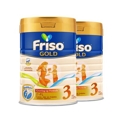 荷兰Friso美素佳儿新加坡版幼儿配方奶粉3段 900g*2罐 儿童含HMO