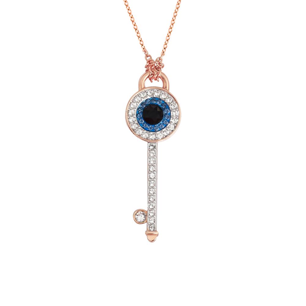 【直营】Swarovski施华洛世奇恶魔之眼钥匙项链饰品女生礼物吊坠