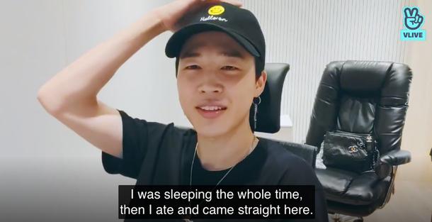 BTS防弹少年团Jimin在休息的时候制作了一个ASMR视频