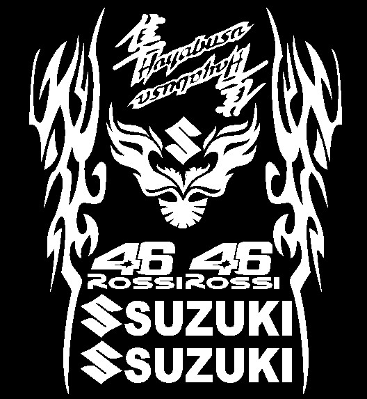 USD SUZUKI Motorcycle Decals Personality GW Reflective - Vehicle stickers and decals