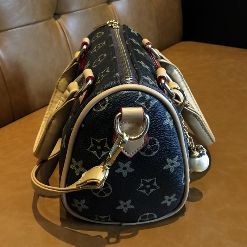2018新款手提包枕头包老花包ins斜挎包时尚印花潮韩版波士顿女包