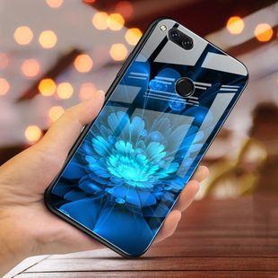 华为荣耀带图案钢化玻璃手机壳